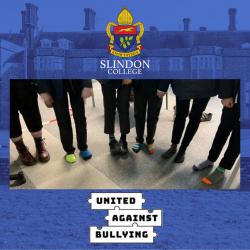 Slindon College pupils wearing odd socks